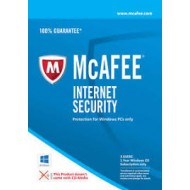 McAfee Internet Security Anti Virus Software 1 Year Licence 3 Users PC (O)